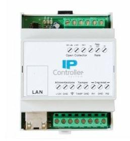 Modulo IP 2 ingressi, 2 uscite in contenitore guida DIN