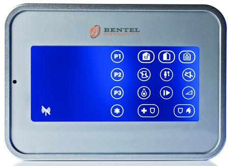 Lettore touch-screen per inserimenti tramite il tag di prossimità.