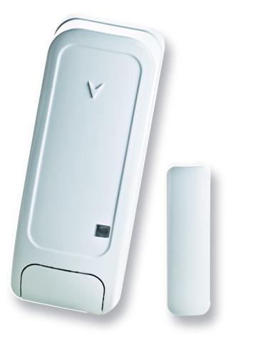 Contato magnetico compatto per porte efinestre con ingresso ausiliario
