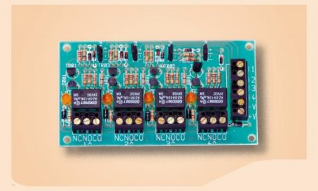 Scheda interfaccia relè 12V 1A amplificata in corrente a 4 relè
