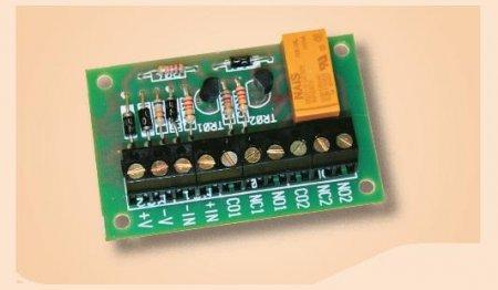 Scheda interfaccia relè doppio scambio 12V 1A amplificata in corrente