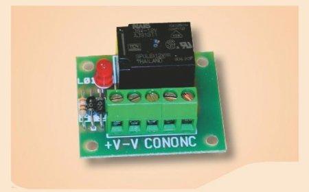 Scheda interfaccia relè 12V 10A con led funzionamento
