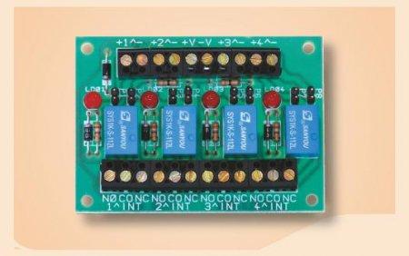 Scheda interfaccia relè 12V 1A a quattro relè indipendenti