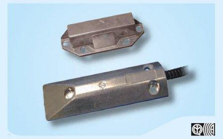 Contatto magnetico per porte basculanti con corpo in alluminio