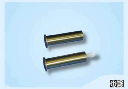 Contatto magnetico da incasso in ottone Ø 7,5 mm.