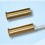Contatto magnetico da incasso con corpo ottone Ø 10 mm