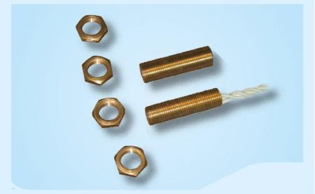 contatto magnetico da incasso con corpo in ottone filettato Ø 8 mm